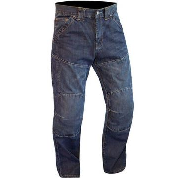Route One Huntsman Water Resistant Motorcycle Motorbike Jeans CE Armour - Blue